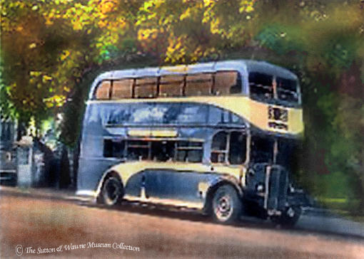 a 1950's Hull Corporation bus, Service 32, AEC Regent III, Sutton on Hull