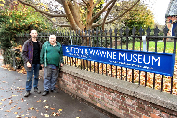 our new museum sign, and the man who painted it, Ken Cooke