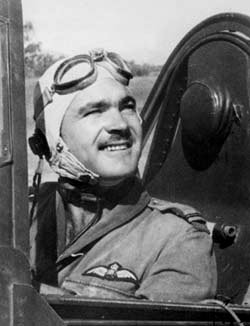 F/Lt Paterson Clarence Hughes DFC .. in the cockpit in 1939
