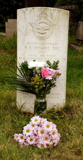 Pat's grave, on 7 Sept 2010, the 70th anniversary of his death in action over East Sussex