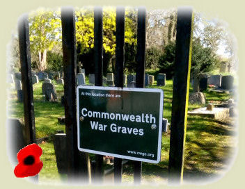 The War Graves notice on the churchyard gate
